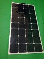 튼튼한 코팅을 가진 sunpower 세포로 만드는 100 w 가동 가능한 태양 전지판