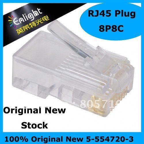 Original 5-554720-3 Ethernet & Telecom Connectors 8/8 OVAL SOLID 24-26AWG