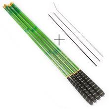 Goture Green Telescopic Fishing Rod Carbon Fiber Fishing Pole Ultra-light Carp Rod 3.6M 4.5M 5.4M 6.3M 7.2M+3 spare top tips
