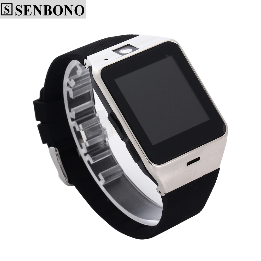 SENBONO GV18 Smartwatch Bluetooth Smart Watch Android IOS Phone Support SIM TF Card SMS NFC 1.3M Camera MP3 T30 - Official Store store