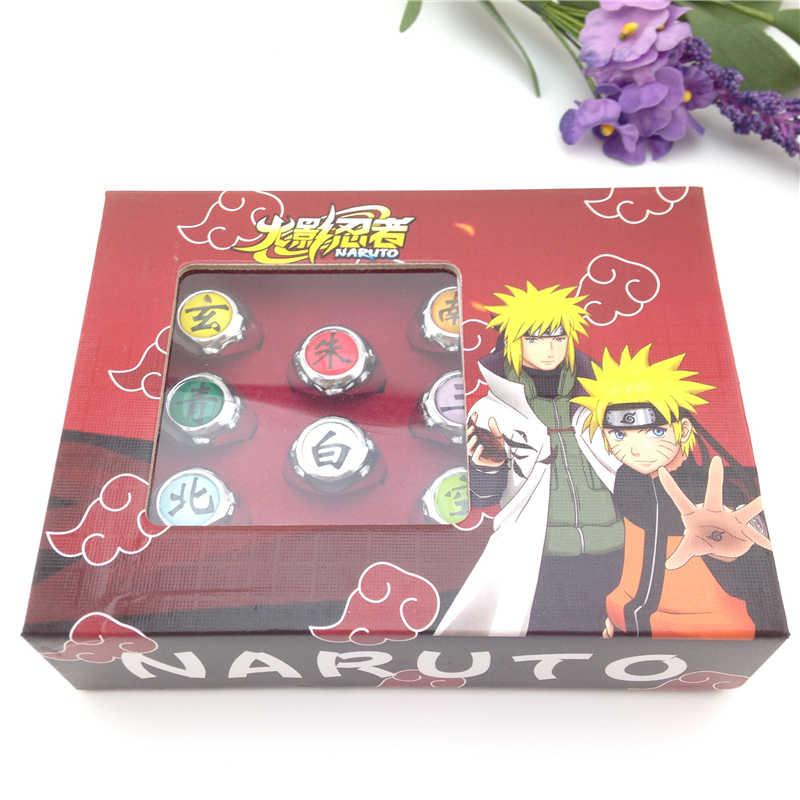New Arrival Anime Akatsuki Cosplay Fashion Accessores Unisex Resizable Red  Naruto Uchiha Itachi Ring