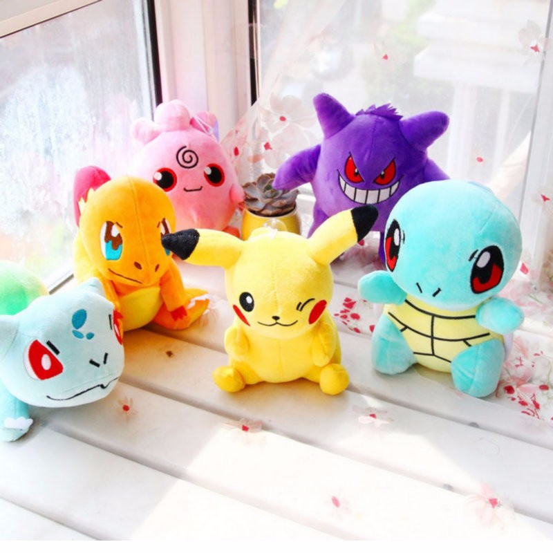 20CM-Pikachu-Bulbasaur-Gengar-Plush-toys-for-children-Gift-Soft-Toy-Kawaii-Cute-Cartoon-Toys-Pocket (3)