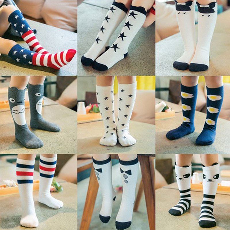100% Cotton Collant Sock For Girls Kids Knee High Socks Baby Girls Fall Winter Leg Warmers For Children Chaussette
