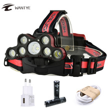 5*XML T6+2*R5 18000LM LED Headlight Headlamp Flashlight USB Rechargerable Head Lamp 6 Mode Linternas Lamp Fishing Torch sitemap 33 xml