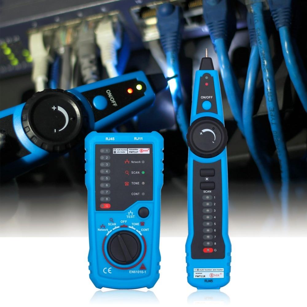 Alta calidad RJ11 RJ45 Cat5 Cat6 teléfono Wire Tracker trazador de tóner Ethernet LAN Network Cable Tester Detector Line Finder