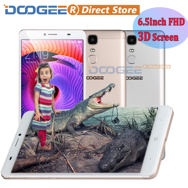 "DOOGEE Y6 Max 3D 4G 6.5"" FHD 1920*1080 Smartphone Android 6.0 MTK6750 Octa Core 3GB+32GB 13MP 4300mAh Fingerprint Mobile Phone"