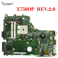 For ASUS X750DP X550DP K550D Laptop Motherboard X750DP rev:2.0 60NB01N0-MB1020 69N0PPM10A01(01) Mainboard 100% tested