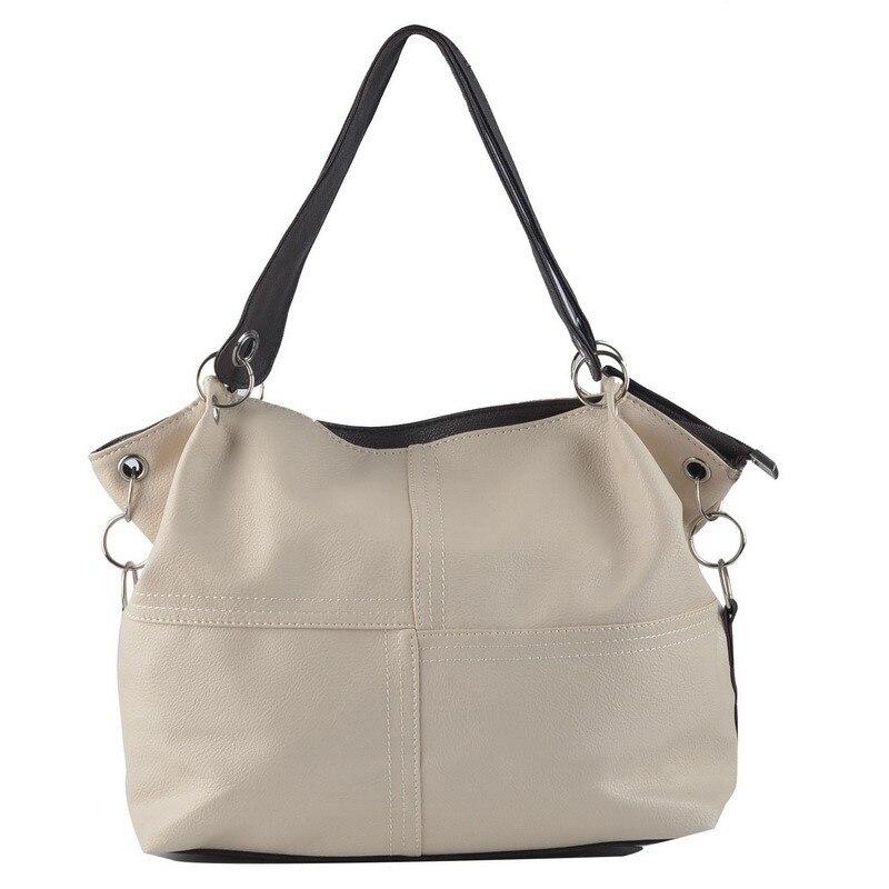 Dames messenger sac Solide imitation en cuir dames sacs à main fermetures à glissière Bolsa feminina cuir dames sacs à main