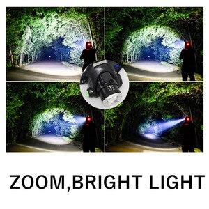 Image 4 - Linterna frontal LED USB XM L L2 XML T6, 5000LM, con Sensor de movimiento, linterna para cabeza, exterior