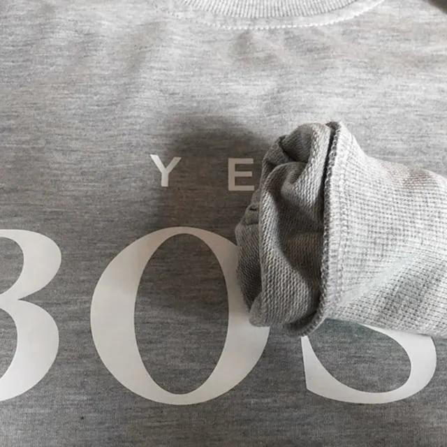 Women sweatshirt Yes Boss Letter Printed Sweatshirt Blouse Ladies Long Sleeve Pullover Jumper Tops Moletom Feminino