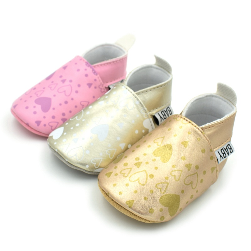 Spring Print Love Shoes Soft Bottom Baby Moccasins Infants Baby Toddler Shoes Shallow Newborn Babies Shoes Sneakersa