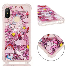 Fashionable cartoon painting is suitable for Huawei P20 Pro dynamic quicksand anti - falling mobile phone shell