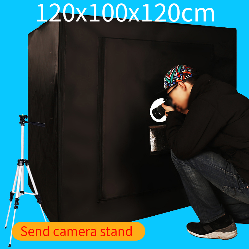 120*100*120 CM Portable Photographie boîte à lumière Photo Studio Lightbox boîte à Lumière Kit Avec Cadeau Gratuit