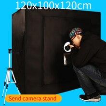 120*100*120 см Портативный фотографии софтбокс Аксессуары для фотостудий lightbox свет комплект окно с бесплатный подарок