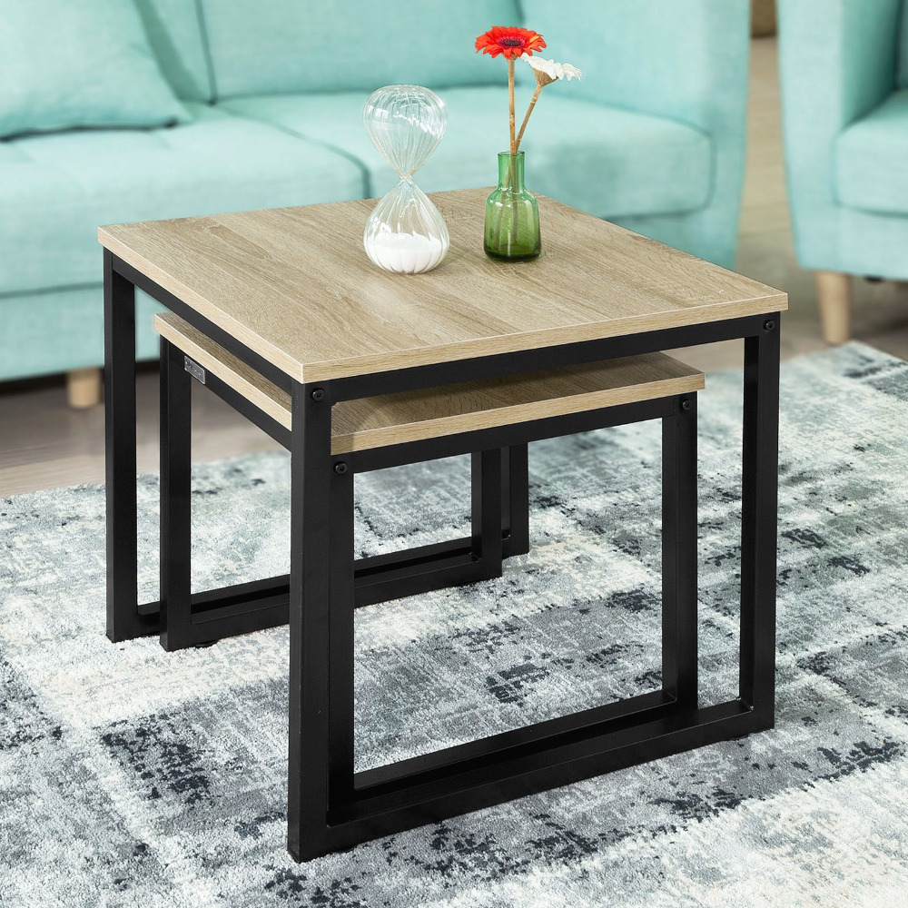 Sobuy Shop Us 58 Sobuy Fbt42 N Modern Nesting Tables Set Of 2 Coffee Table Side Table End Table In Coffee Tables From Furniture On Aliexpress Alibaba