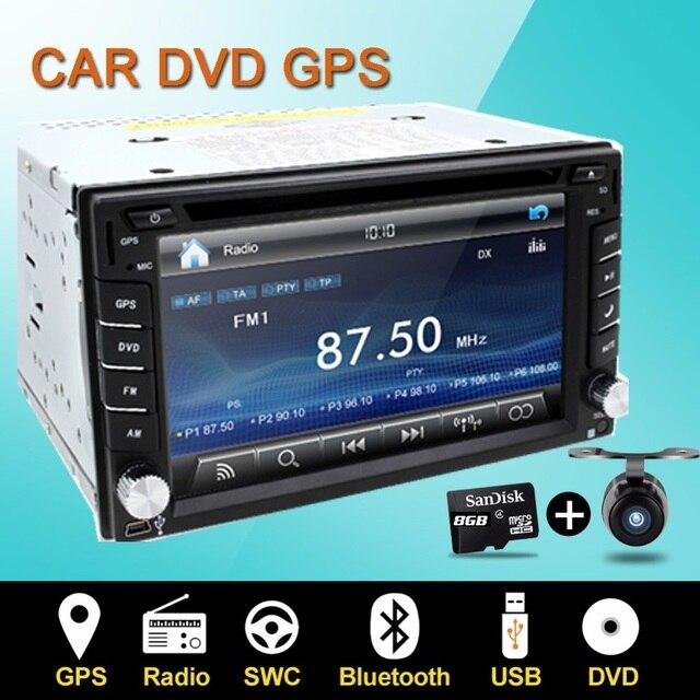 Руль Авто 2din dvd-плеер автомобиля Радио GPS ПК Видео Монитор Камеры Для VW универсальный Blutooth RDS цифрового телевидения (опция) Cam