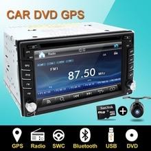 Руль авто 2din dvd-плеер автомобиля радио GPS ПК монитор видеокамеры для VW универсальный RDS Blutooth Цифровой ТВ (опция) Cam