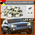 Car SUV Interior Bulbs LED Kit Package White 12V High Power Fit For Jeep Grand Cherokee 2005-2015