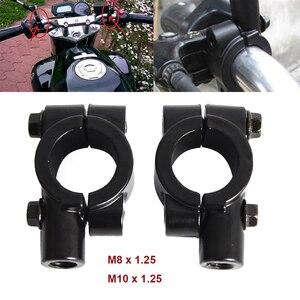"7/8"" Handle Bar Handlebar Mirrors Holder Clamp Adaptor Mounts M10/M8x1.25 Thread Universal For Dirt Street Bikes ATV UTV Scooter(China)"
