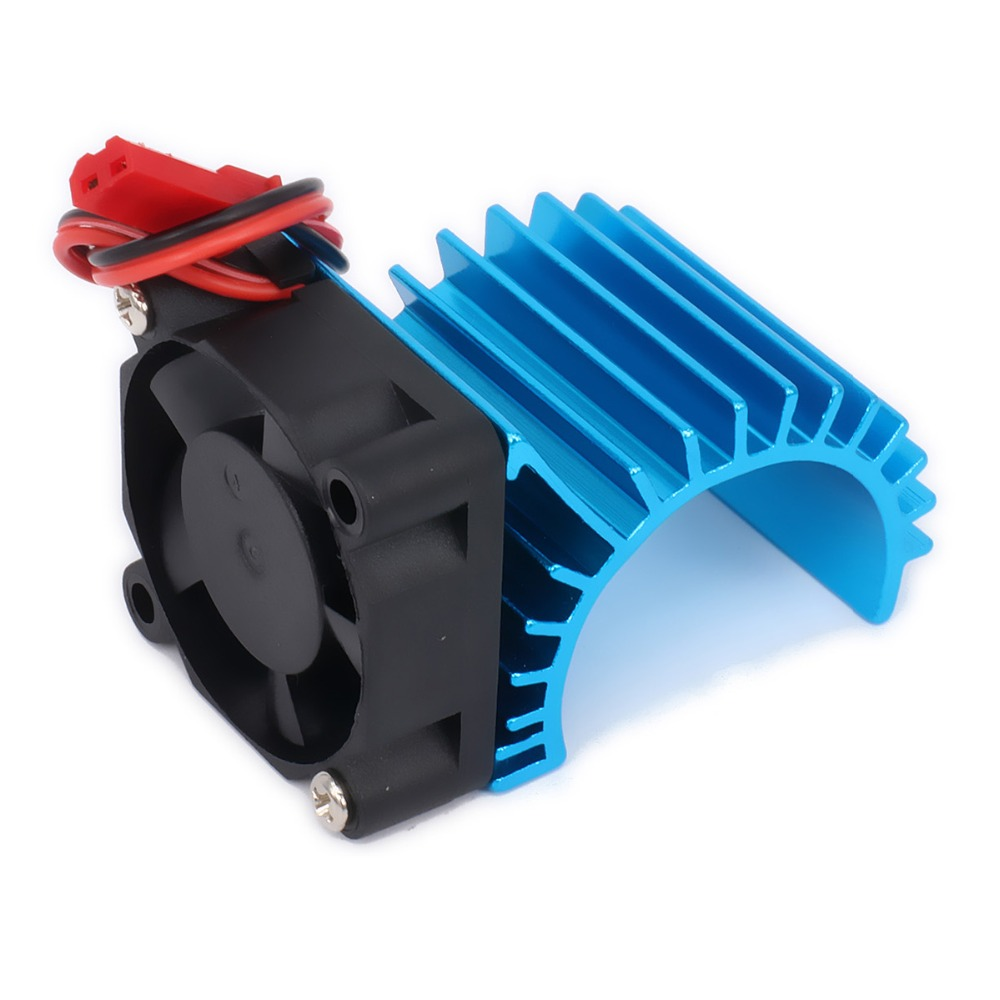 Aluminum 380 Motor Cooling Head Heat Sink Heatsink Vent Side 6v Fan JST For 1/16 Model EP Car/Boat HSP HPI Wltoys Himoto Redcat synthetic graphite cooling film paste 300mm 300mm 0 025mm high thermal conductivity heat sink flat cpu phone led memory router
