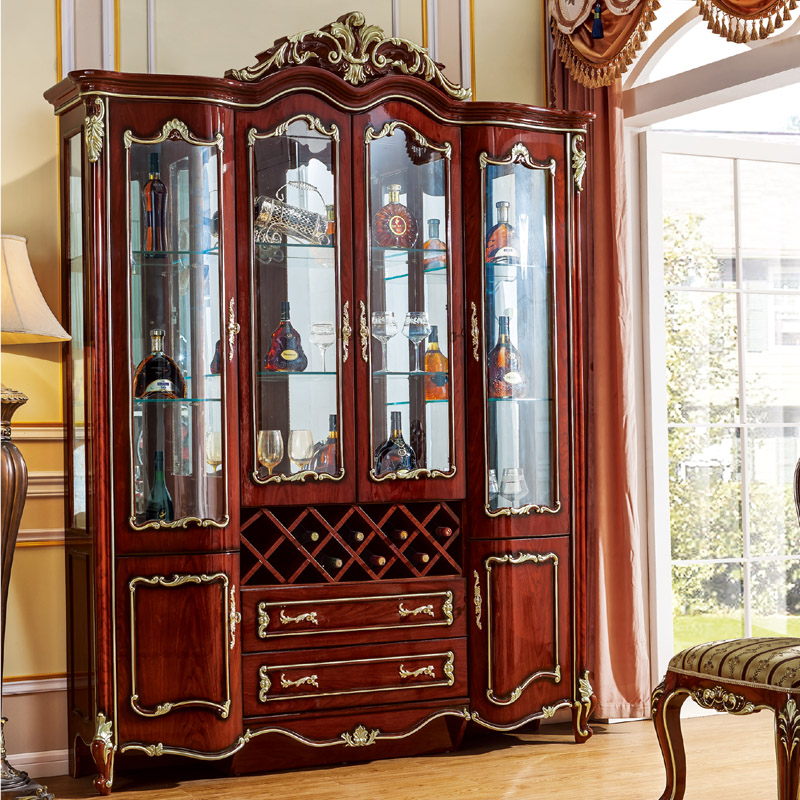 European Style American Four Doors Wine Cabinet Decoration From PROCARE