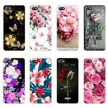 For Xiaomi Redmi 6A Case 2GB+16GB 5.45 Ultra Thin Patterned Flower Soft TPU Protective 6 Back Cover