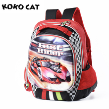 New 2018 Boys Schoolbags Kids Satchel Child School Backpack EVA Racing Cartoon Folded Orthopedic Children School Bags For Boys
