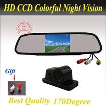 3 В 1 Бесплатная Доставка Интегрированы автомобильная камера заднего вида с видимый датчик парковки и зуммер ИК ночного видения Парковка помощь