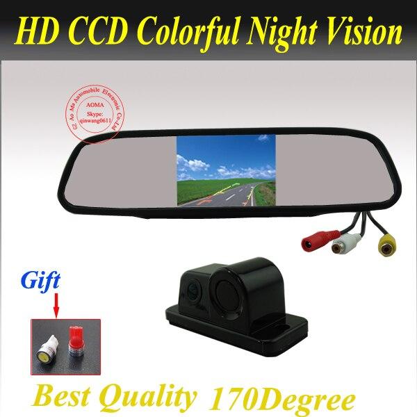 3 en 1 livraison gratuite caméra de recul de voiture intégrée avec capteur de stationnement visible et vibreur IR vision nocturne aide au stationnement