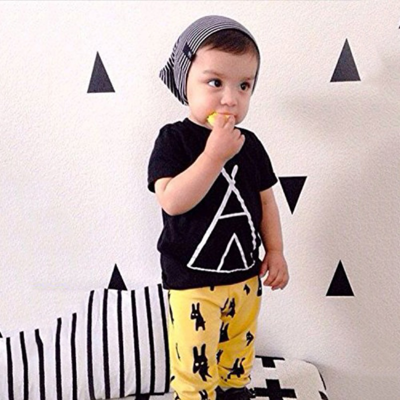 Baby Boys Sets Short Sleeve Graphic T-shirt and Animal Print Pants Outfit Chidren Sets Newborn baby boy