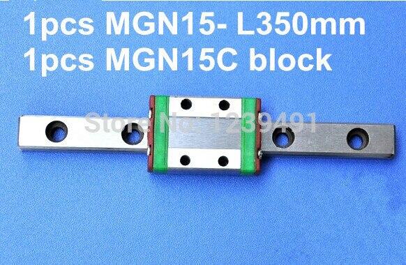 1 pièces MGN15 L350mm linéaire rail + 1 pièces MGN15C transport