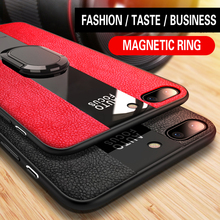 Wholesale LOGO Car Magnetic ring holder Phone Case For iPhone xs MAX Leather PC Tpu Back case for Iphone7 6 6s 8 plus X XR Cover molan cano card bumper card holder pc tpu phone case for iphone7 plus black