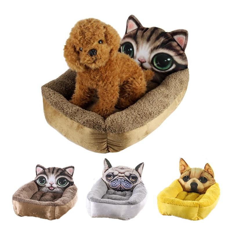 Spring Autumn Pet Dog House Nest Cute Plush Cushion Warm Small Medium Dogs Pet 3D Style Mattress Cat Bed Dog Puppy Kennel