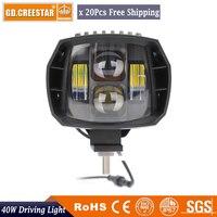 40W 5 LED Spot Work Light Super Bright LED Driving Light Fog Lamp 12V 24V For UTE 4X4 ATV 4WD SUV UTV TRUCK CAR Camper x20pcs