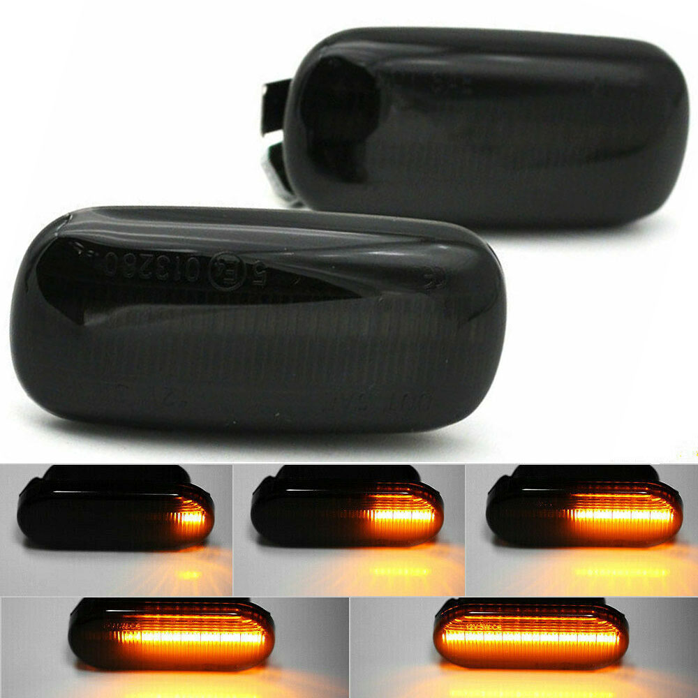 2Pcs set LED Side Marker Lights Amber Turn Signal Light For Audi A4 S4 B6 B7 A6 C5 TT A8 in Signal Lamp from Automobiles Motorcycles