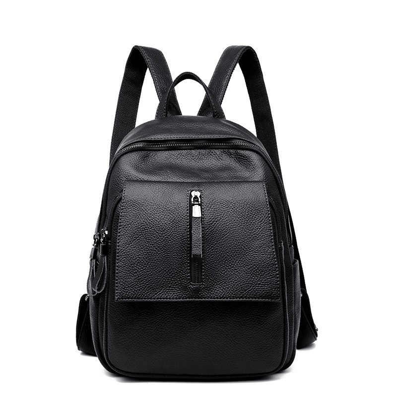 2019 женские кожаные рюкзаки, винтажная сумка на плечо, дорожная сумка, женские рюкзаки для девочек, рюкзак для женщин