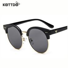 2016 V Style Fashion Desinger semi-rimless Frame For Women's Sunglasses Big Frame l oculo de sol feminino lentes de sol mujer