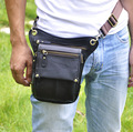 2016 New Top Quality Genuine Leather men vintage Brown Small Belt Bag Waist Pack Drop Leg Bag