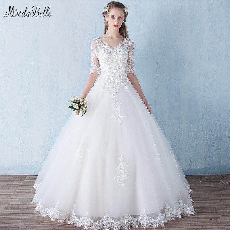 V Neck Wedding Gown: Modabelle Ivory Wedding Dress Vestidos Novias Boda V Neck