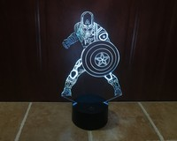 LED 7 Color Replacement 3D US Captain USB Night Light Touch Sensor Creative Christmas Gifts Decorative