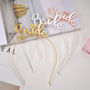 Image 3 - Chicinlife Rose Gold Bride To Beบอลลูนฟอยล์Tiara Crown HeadbandแหวนเพชรบอลลูนBachelorette Hen Party Supplies