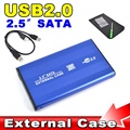 "2016 Hot Sale External USB 2.0 to HARD DISK DRIVE SATA 2.5"" inch HDD Adapter CASE Enclosure Box for PC Computer Laptop Notebook"