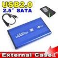 """2016 Venta Caliente USB 2.0 para DISCO DURO Externo SATA de 2.5 """"pulgadas Adaptador HDD CASO Caja Caja para Ordenador PC Portátil Notebook"""