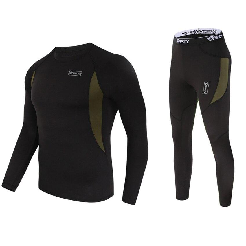 Shirt Thermal-Underwear-Sets Trekking Fleece Skiing Male Winter Camping Quick-Drying