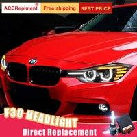 2Pcs LED Headlights For BMW 3 Series 2012 2016 F30 led car lights Angel eyes xenon HID KIT Fog lights LED Daytime Running Lights