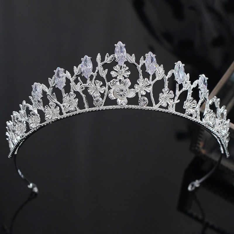 CC หมั้นเครื่องประดับ tiaras และ crowns hairbands อุปกรณ์เสริมผมงานแต่งงานสำหรับเจ้าสาว rhinestone hollow ดอกไม้แฟชั่น xy388