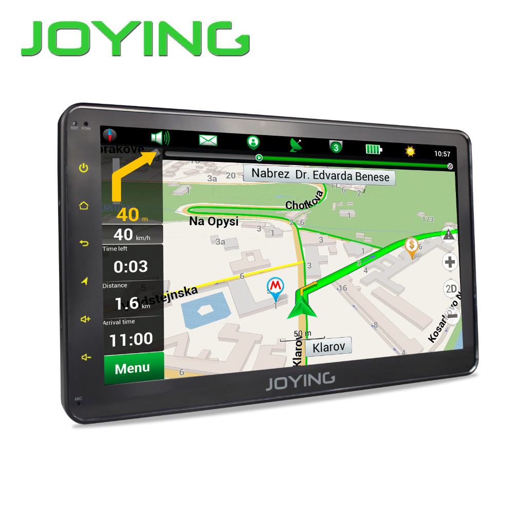 Aliexpress com buy joying 1din 10 touch screen android 6 0 car radio gps navigation system built in maps bluetooth stereo swc head unit hd player from
