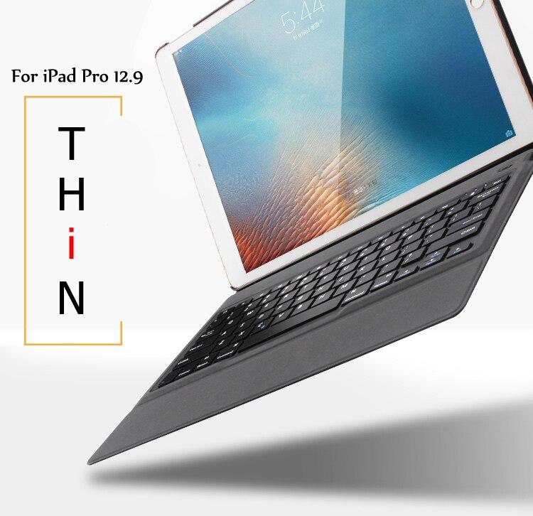 Nouveau étui pour clavier bluetooth sans fil Ultra mince pour iPad Pro 12.9 2015 édition/2017 édition