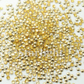 [ Retail ]Nails gel 3MM half round 1000pcs/pack  Lt Gold color  Rhinestones all for nail