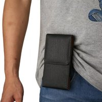 Genuine Leather Carry Belt Clip Pouch Waist Purse Case Cover For Iphone 6 Plus Wallet Pouch